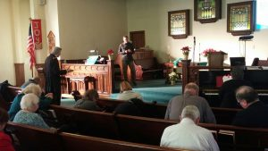 Pictured is a recent prayer service inside the United Church.