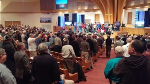 Photo from the Iron Sharpens Iron conference. Courtesy Brian Link